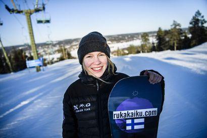 Eveliina Taka slopestylen kakkonen Italiassa