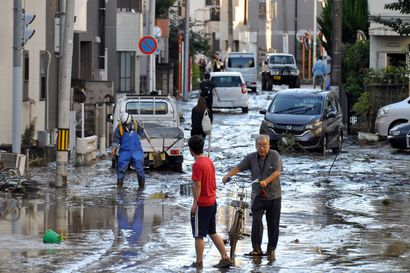 Taifuunin jälkeiset pelastustyöt meneillään Japanissa: uhriluku kasvaa, ihmisiä on myös kateissa