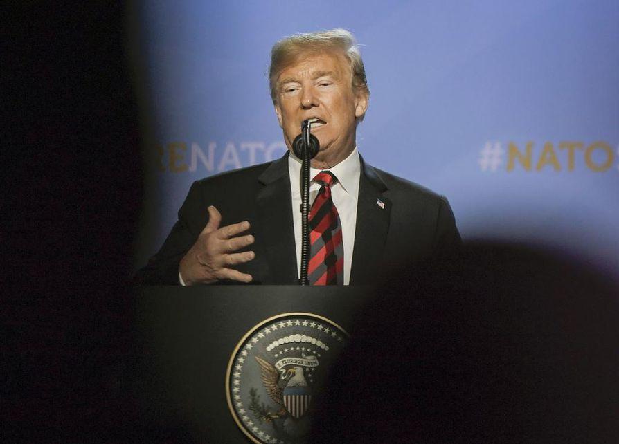 Yhdysvaltain presidenttin on vierailulla Euroopassa.