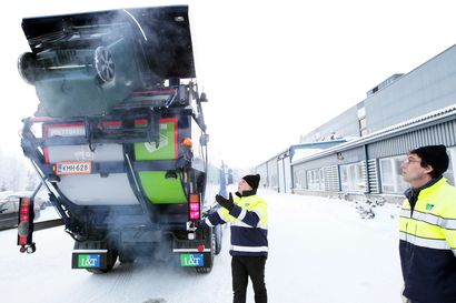 Kaupunki muistuttaa asukkaita jäteastioiden edustan lumen puhdistamisesta