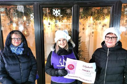 Likiliike lahjoitti 2 000 eurolla lahjakortteja päiväkeskukselle
