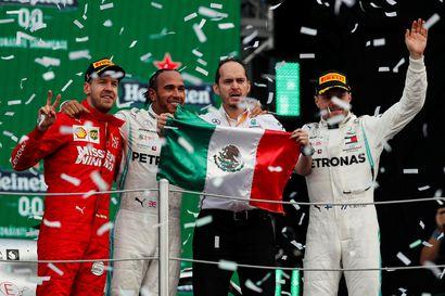 Valtteri Bottas ajoi kolmanneksi Meksikon gp:ssä, Hamilton voitti – maailmanmestaruus ei ratkennut vielä Mexico Cityssä