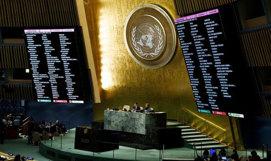 YK:n yleiskokous torjui Yhdysvaltain päätöksen tunnustaa Jerusalem Israelin pääkaupungiksi.