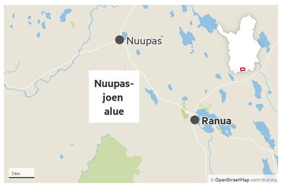 Ranualla kadonneen marjastajan etsinnät jatkuvat Nuupasjoen alueella