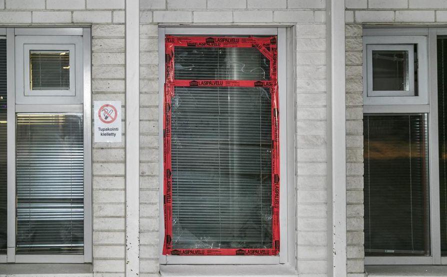 Oulun keskustassa sijaitsevan moskeijan ikkuna rikottiin jouluyönä.
