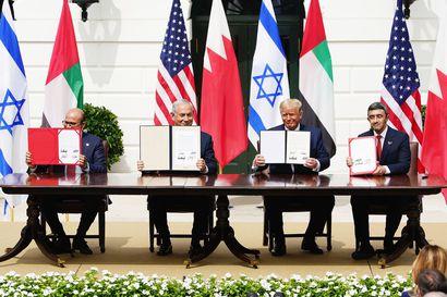 Israel, Arabiemiraatit ja Bahrain allekirjoittivat historiallisen sopimuksen – tärkeä voitto jatkokaudelle pyrkivälle Trumpille