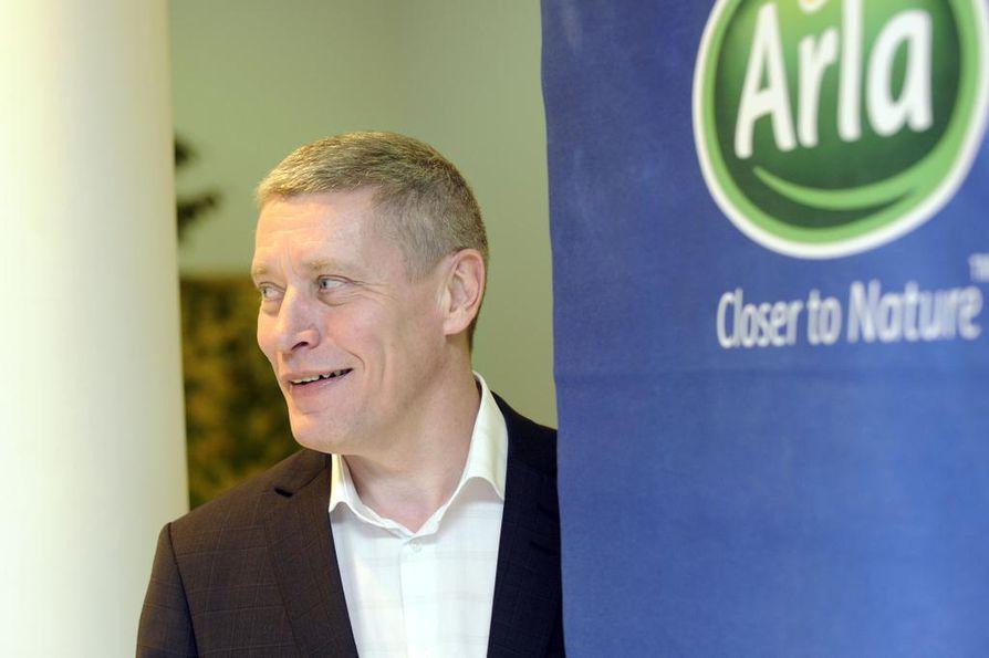 Arla Ingmanin toimitusjohtajan Reijo Kiskola ei halua arvioida maidon mahdollisia korotusprosentteja.