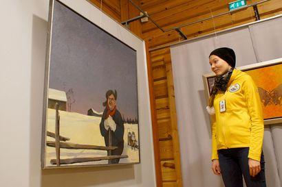 Paavo Tolosen taidetta Syötteen luontokeskuksessa – esillä töitä monelta vuosikymmeneltä