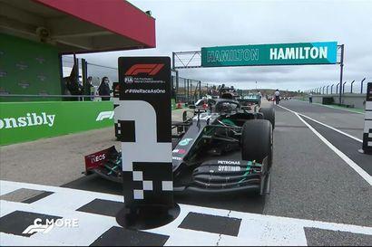 Hamilton siirtyi F1-voittojen tilastokärkeen ohi Michael Schumacherin