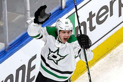 Dallas nousi NHL:n ensimmäisen finaaliottelun voittajaksi – kaikki suomalaiset pisteille