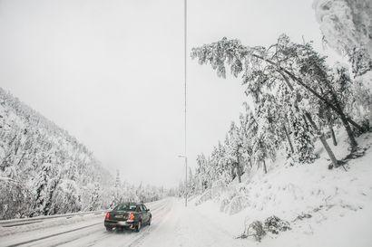Pohjois-Lappiin on satanut yhtä paljon lunta kuin koko viime talvena yhteensä
