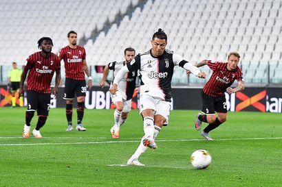 Ronaldo hassasi rankkarin mutta Juventus ylsi Italian cupin finaaliin
