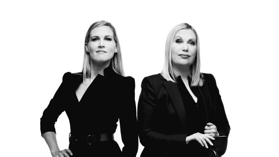 Sanna Ukkolalla (oik.) oli Ylessä Marja Sannikan kanssa yhteinen ajankohtainen keskusteluohjelma.