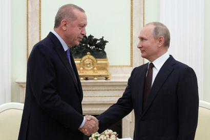 Putin ja Erdogan pääsivät sopuun tulitauosta Syyriassa – tulitauko alkaa ensi yönä