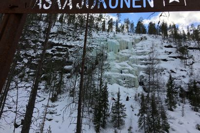 Posion Korouoman jääseinämät kiipeilijöiden suosiossa – Jääseinämiä on siellä nimetty yhteensä 14 kappaletta. Tunnetuimmat niistä ovat Ruskea Virta, Mammuttiputous sekä Jaska Jokunen