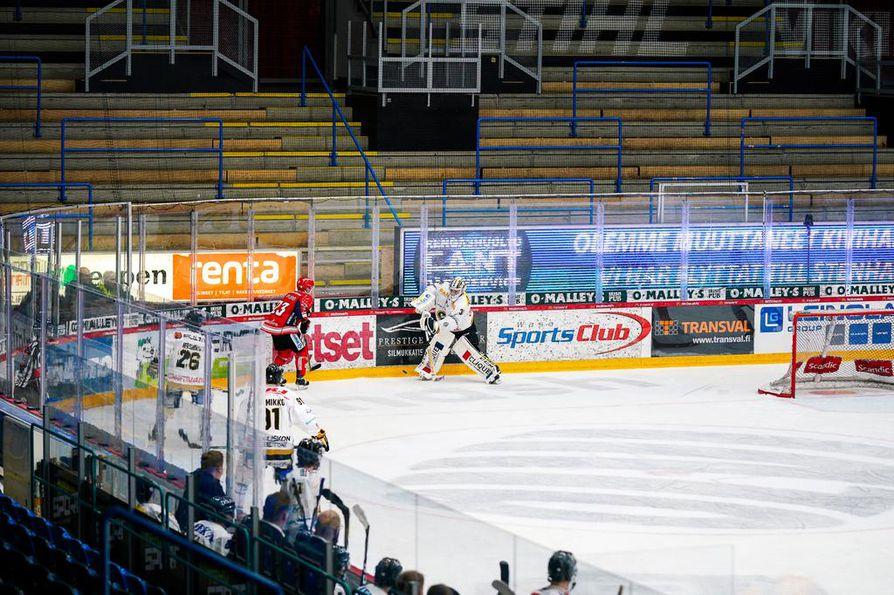 Tunnelma Sportin ja Kärppien ottelussa oli kolkko.