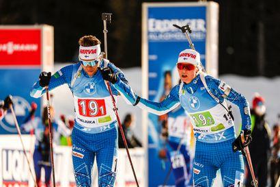 Suomi jäi kauas kärjestä MM-ampumahiihdon parisekaviestissä