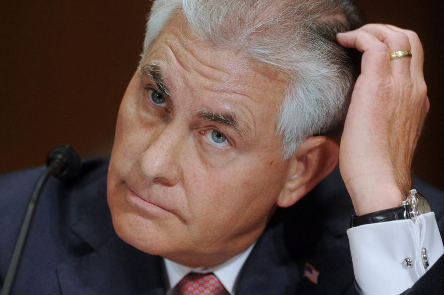 Rex Tillerson, 64, on johtanut ExxonMobilia vuodesta 2006 lähtien.
