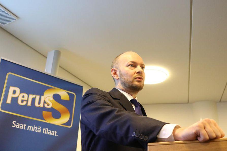Sampo Terho julkisti puheenjohtajakampanjansa ohjelman perjantaina Helsingissä.