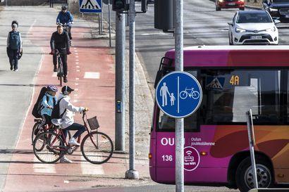 Ajassa: Lisää kävelyä, pyöräilyä ja joukkoliikennettä, vähemmän autoilua – Oulu haluaa kestävän kaupunkiliikkumisen mallikaupungiksi