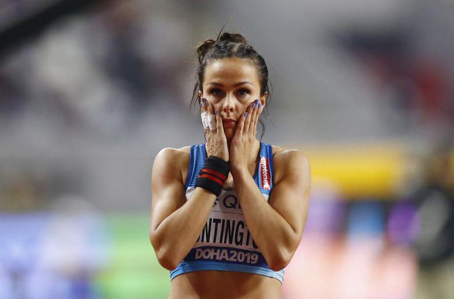 7-ottelija Maria Huntington kuuluu Suomen MM-joukkueen nuoreen ydinryhmään.