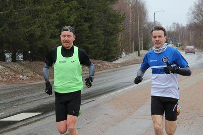 Ossi Peltoniemi ja Juho Latvala ylsivät tavoitteeseen – 50 kilometriä meni kirkkaasti rikki