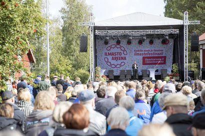 Iissä järjestetään viikonloppuna ilmastofestivaali, jonne pääsee Oulusta ilmaiseksi biokaasubussilla – järjestäjän mukaan isolla tapahtuma-alueella on mahdollista pitää turvavälit