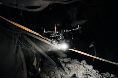 Dronet tutkivat Kiirunan kaivosta – lepakkoskanneri pääsee sortumien liki
