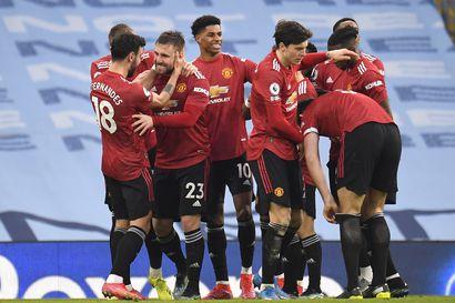 United päätti Manchesterin paikallispelissä Cityn ennätysputken – Liverpoolin kotituska ei hellitä