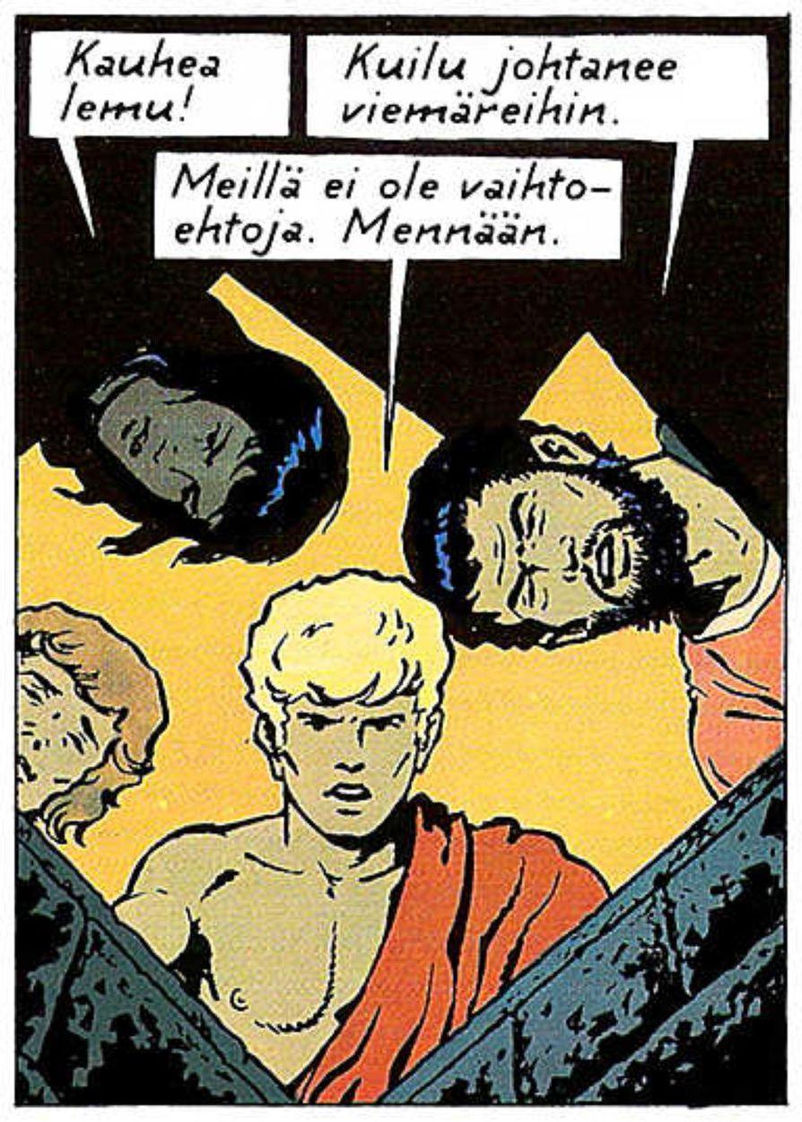 Jacques Martinin huolekas kynänjälki korostaa Alixin arkaaisuutta.