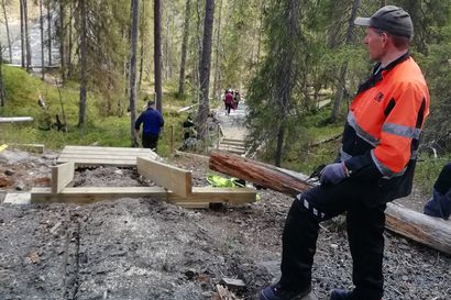 Oulangan ja Riisitunturin kansallispuistoissa korjataan ja kunnostetaan retkeilyreittejä