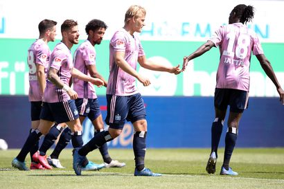 Joel Pohjanpalo maalasi heti paluupelissä, HSV menetti voiton viime hetkillä