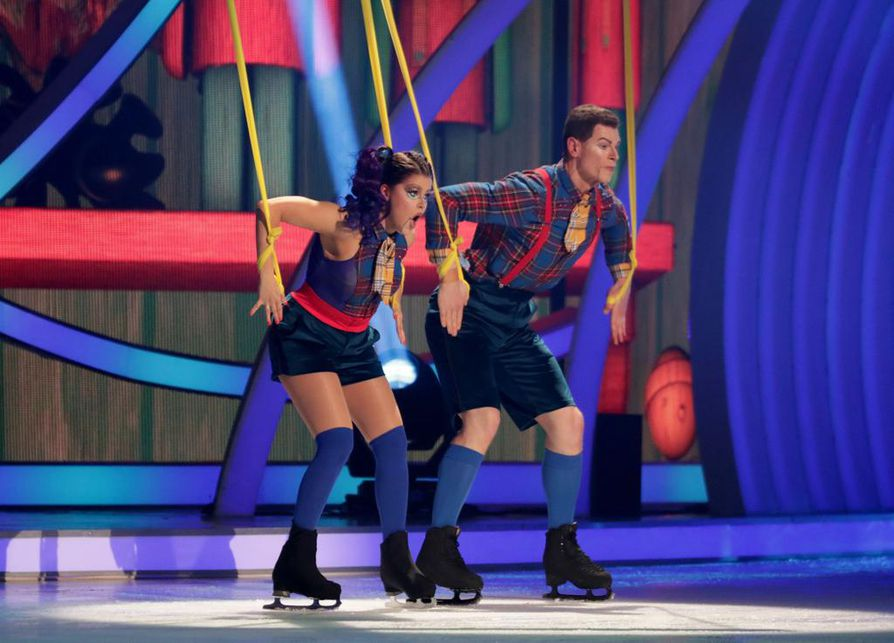Taitoluistelija Hamish Gaman oli Saara Aallon opettaja Dancing on Ice -kisassa.