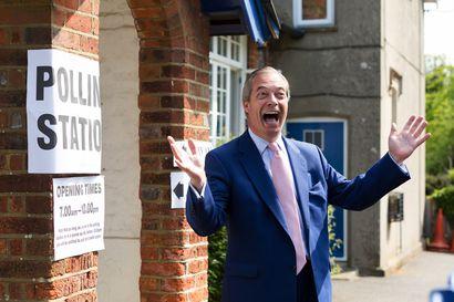 Brexit-puolueelle murskavoitto Britannian eurovaaleissa – konservatiivien kannatus romahti puoleen viime vaaleista