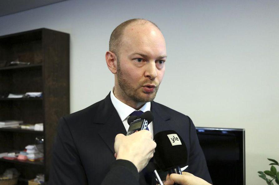 Perussuomalaisten puheenjohtajaksi pyrkivä Sampo Terho julkisti ohjelmansa perjantaina eduskunnassa pitämässään tiedotustilaisuudessa.