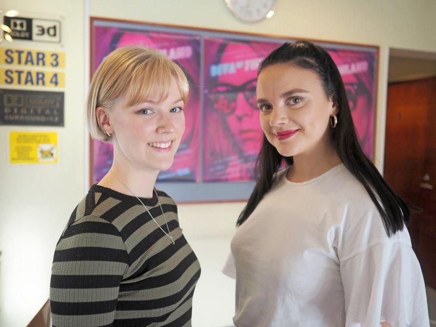Suvi-Tuuli Teerinkoski ja Linda Manelius näyttelevät Diva of Finland -elokuvan Hennaa ja Siljaa.