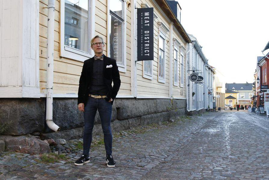 Riku Stenros haluaa tehdä Porvoosta eurooppalaisen ruokamatkailukaupungin.