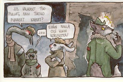 Arvio: Limingan taidekoulun sarjakuvalinja teki komean sovituksen Juha Hurmeen näytelmästä