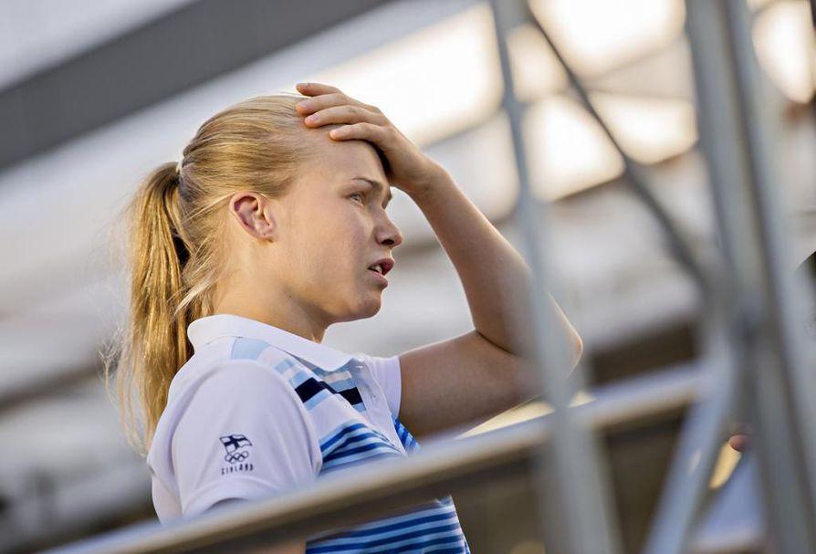 Liki vuoden kilpamatolta poissa ollut Petra Olli joutui torstaina kylmään kyytiin Rooman EM-paineissa, mutta tie pronssiotteluun aukesi silti. Arkistokuva.