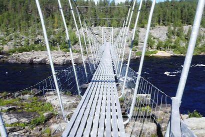 Ivalojoen ylittävän Kultalan sillan korjaukset on jouduttu keskeyttämään Hammastunturin erämaa-alueella – retkeilyolosuhteet ovat alkukesästä vaativat