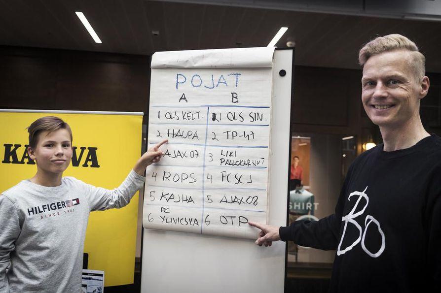 Julius Körkkö on HauPa:n kasvatti, Janne Hietanen aloitti pitkän uransa OTP:n väreissä. Körkkö ja Hietanen arpoivat perjantaina Kaleva Cupin lohkot.