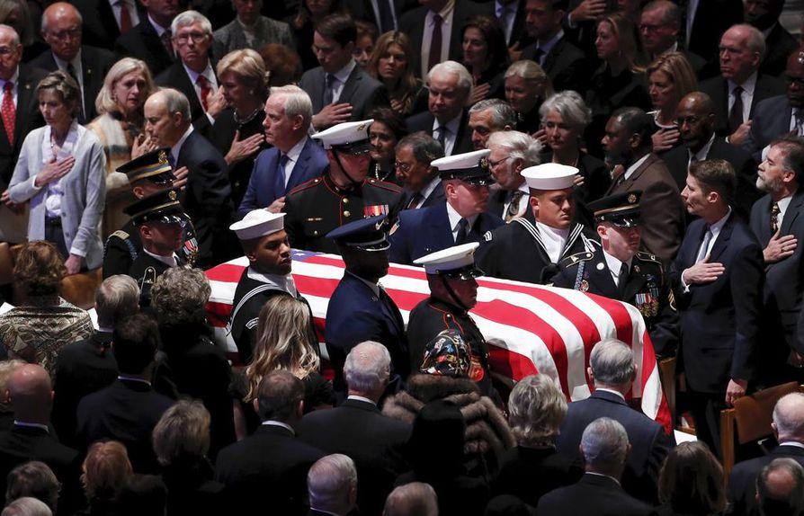 George H. W. Bushin hautajaiset pidetiin keskiviikkona Washingtonissa.