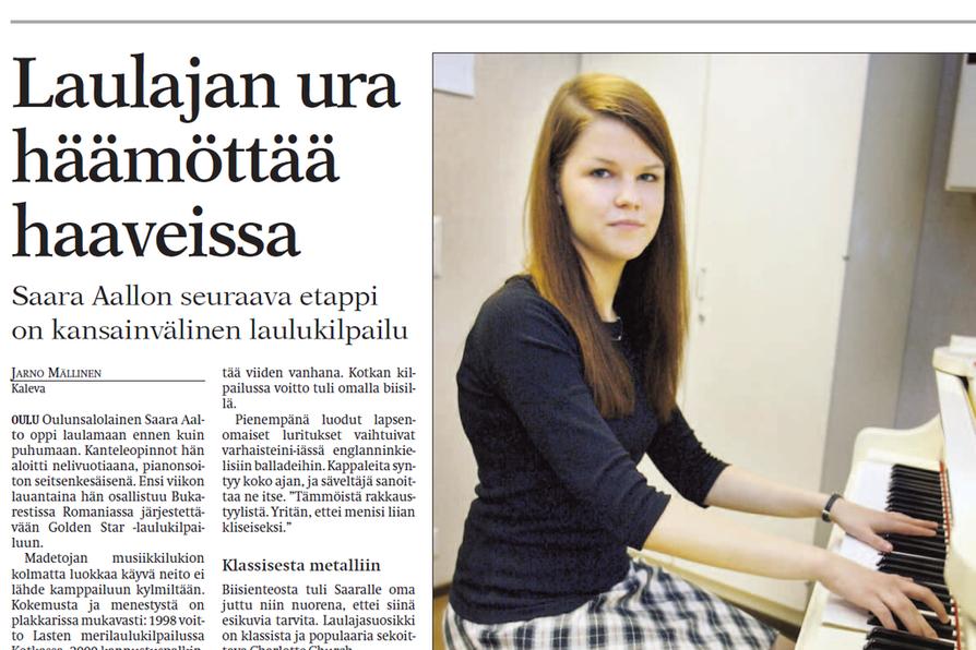 Saara Aalto kertoi tulevaisuuden haaveistaan vuonna 2004 julkaistussa haastattelussa.