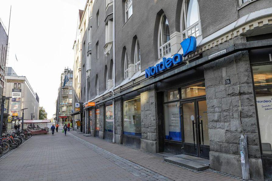 Nordea kertoi selvittävänsä yhdessä verkkotoimittajansa kanssa häiriötilannetta. Arkistokuva.
