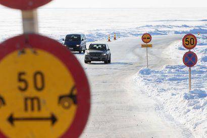 Hailuodon jäätie suljettiin tiistai-iltana – tänä talvena saareen tuskin enää kuljetaan jäätä pitkin