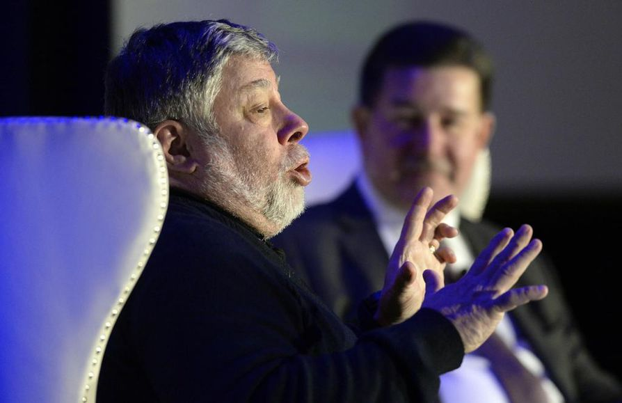 Steve Wozniak kiertää paljon maailmalla puhumassa. Arkistokuva.