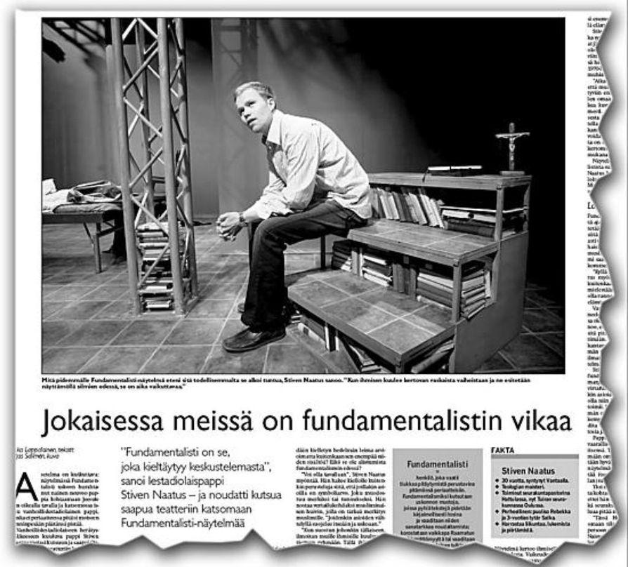 Kaleva pyysi Stiven Naatuksen viime keväänä Oulun kaupunginteatteriin.
