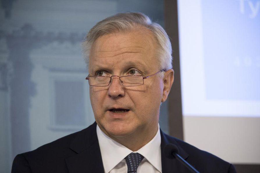 Elinkeinoministeri Olli Rehn. Arkistokuva