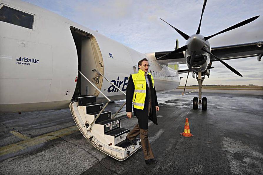 Air Balticin solmukohta tulee Ouluun. Yhtiön kaupallinen johtaja Tero Taskila on ollut tyytyväinen Oulusta saatuun tukeen.