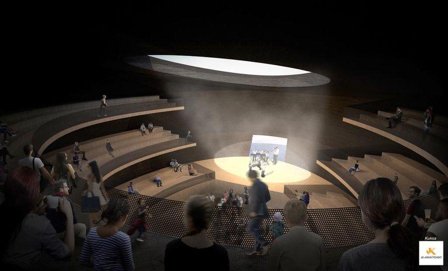 Yksi Lammassaaren visioista olisi, että sinne tulisi Meri Oulun teatteri. Suunnitelman nimi on Kuksa.